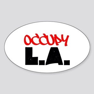 OCCUPY L.A. Sticker (Oval)