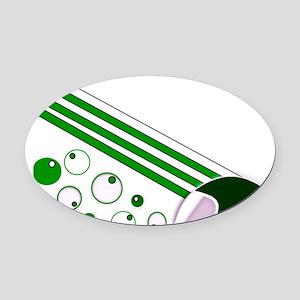 Jetline Green Oval Car Magnet