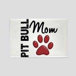 Pit Bull Mom 2 Rectangle Magnet
