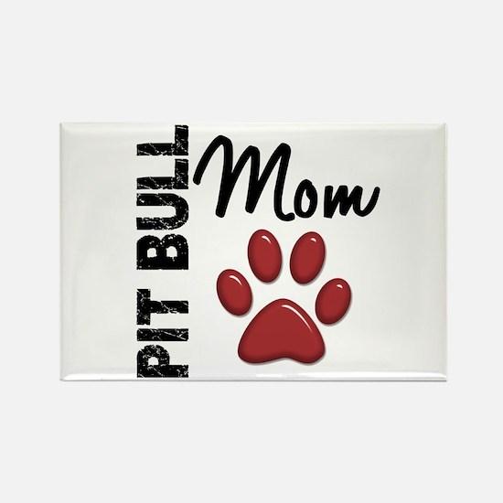 Pit Bull Mom 2 Rectangle Magnet