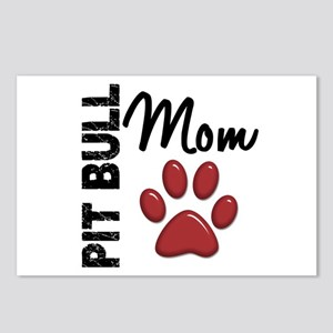 Pit Bull Mom 2 Postcards (Package of 8)