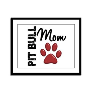 Pit Bull Mom 2 Framed Panel Print