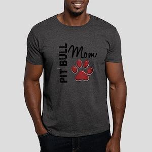 Pit Bull Mom 2 Dark T-Shirt