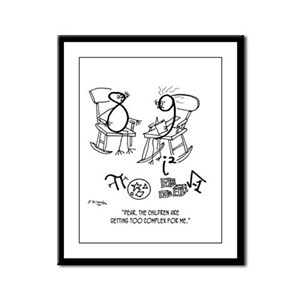 Children Are Too Complex Framed Panel Print