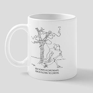 Newton Discovers The Computer Mug