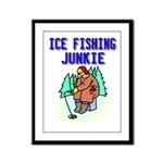 Ice Fishing Junkie Framed Panel Print
