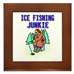 Ice Fishing Junkie Framed Tile