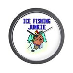 Ice Fishing Junkie Wall Clock