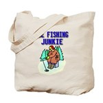 Ice Fishing Junkie Tote Bag