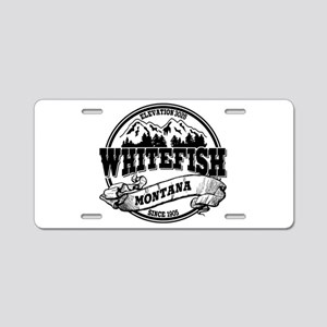 Whitefish Old Circle Aluminum License Plate