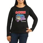 Goukakukigan Women's Long Sleeve Dark T-Shirt