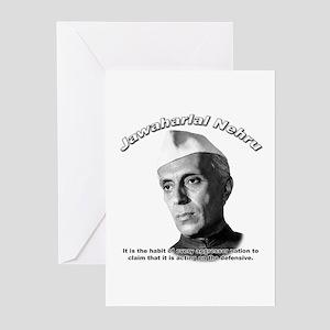Javaharlal Nehru 01 Greeting Cards (Pk of 10)
