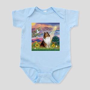Cloud Angel Sheltie Infant Bodysuit