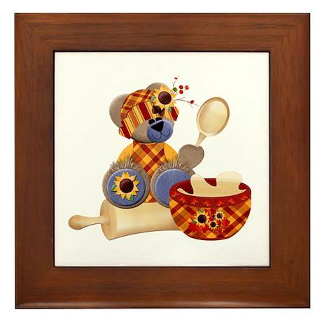 TeddyBear Chef Framed Tile