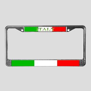 Italy Italian Blank Flag License Plate Frame