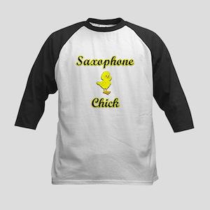 Saxophone Chick Kids Baseball Jersey