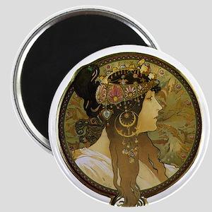 Byzantine Brunette Head Magnet
