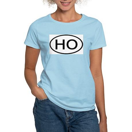 HO - Initial Oval Women's Pink T-Shirt