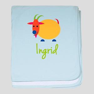 Ingrid The Capricorn Goat baby blanket