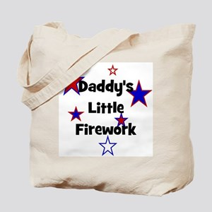 Daddy's Little Firework Tote Bag