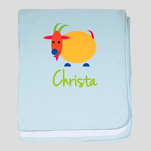 Christa The Capricorn Goat baby blanket