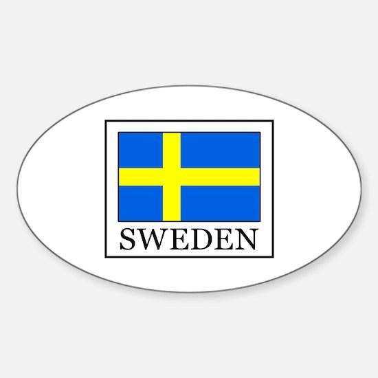 Cute Swedish pride Sticker (Oval)