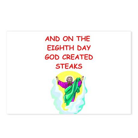 steaks Postcards (Package of 8)