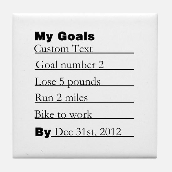 Goals List Tile Coaster