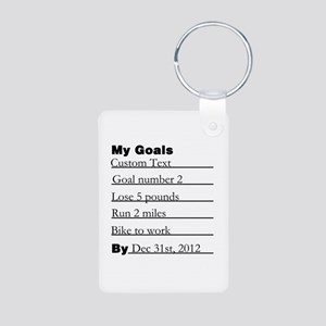 Goals List Aluminum Photo Keychain
