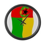 Cabo Verde History Flag Large Wall Clock
