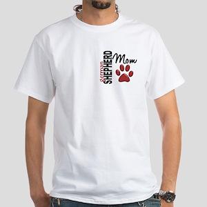German Shepherd Mom 2 White T-Shirt