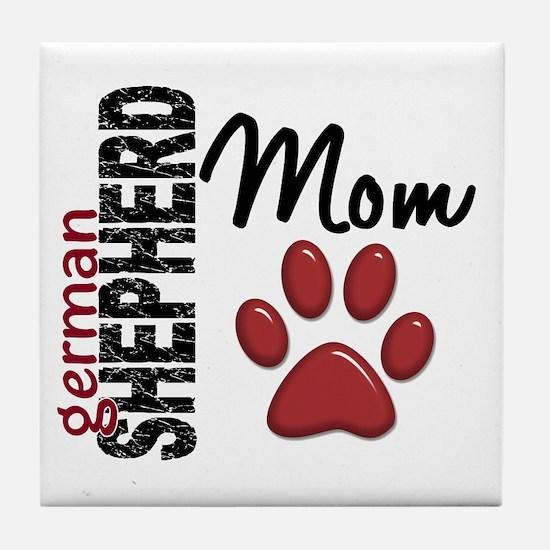 German Shepherd Mom 2 Tile Coaster