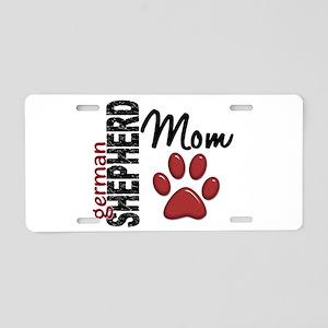 German Shepherd Mom 2 Aluminum License Plate