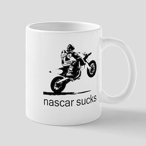 wheelie white nascar sucks Mug
