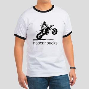 wheelie white nascar sucks Ringer T