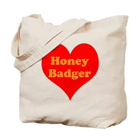Love Honey Badger Tote Bag