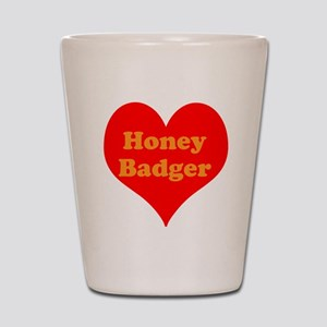 Love Honey Badger Shot Glass