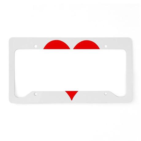 Love Honey Badger License Plate Holder