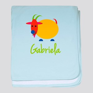 Gabriela The Capricorn Goat baby blanket