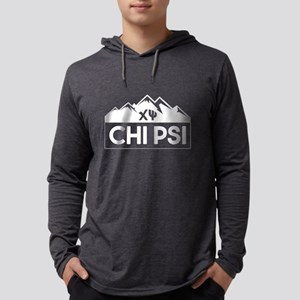 Chi Psi Mountains Mens Hooded T-Shirts