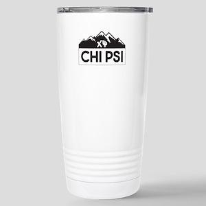 Chi Psi Mountains 16 oz Stainless Steel Travel Mug