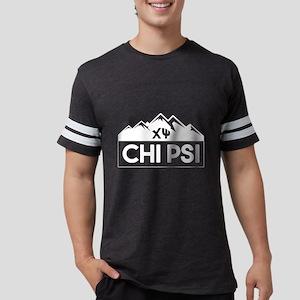 Chi Psi Mountains Mens Football T-Shirts
