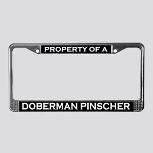 Property of Doberman Pinscher License Plate Frame