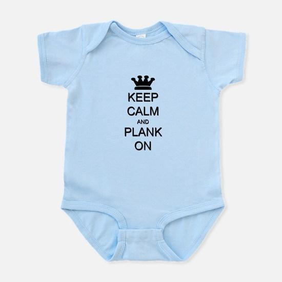 Keep Calm and Plank On Infant Bodysuit