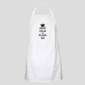 Keep Calm and Plank On Apron