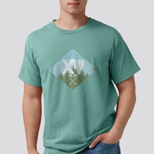 Chi Psi Mountains Diam Mens Comfort Color T-Shirts