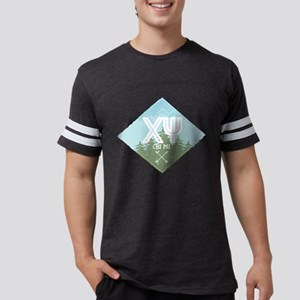 Chi Psi Mountains Diamond B Mens Football T-Shirts