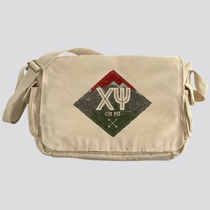 Chi Psi Mountains Diamond Messenger Bag