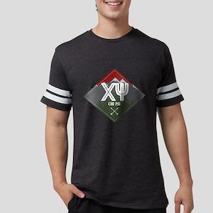 Chi Psi Mountains Diamond Mens Football T-Shirts