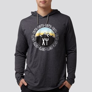 Chi Psi Sunset Mens Hooded T-Shirts